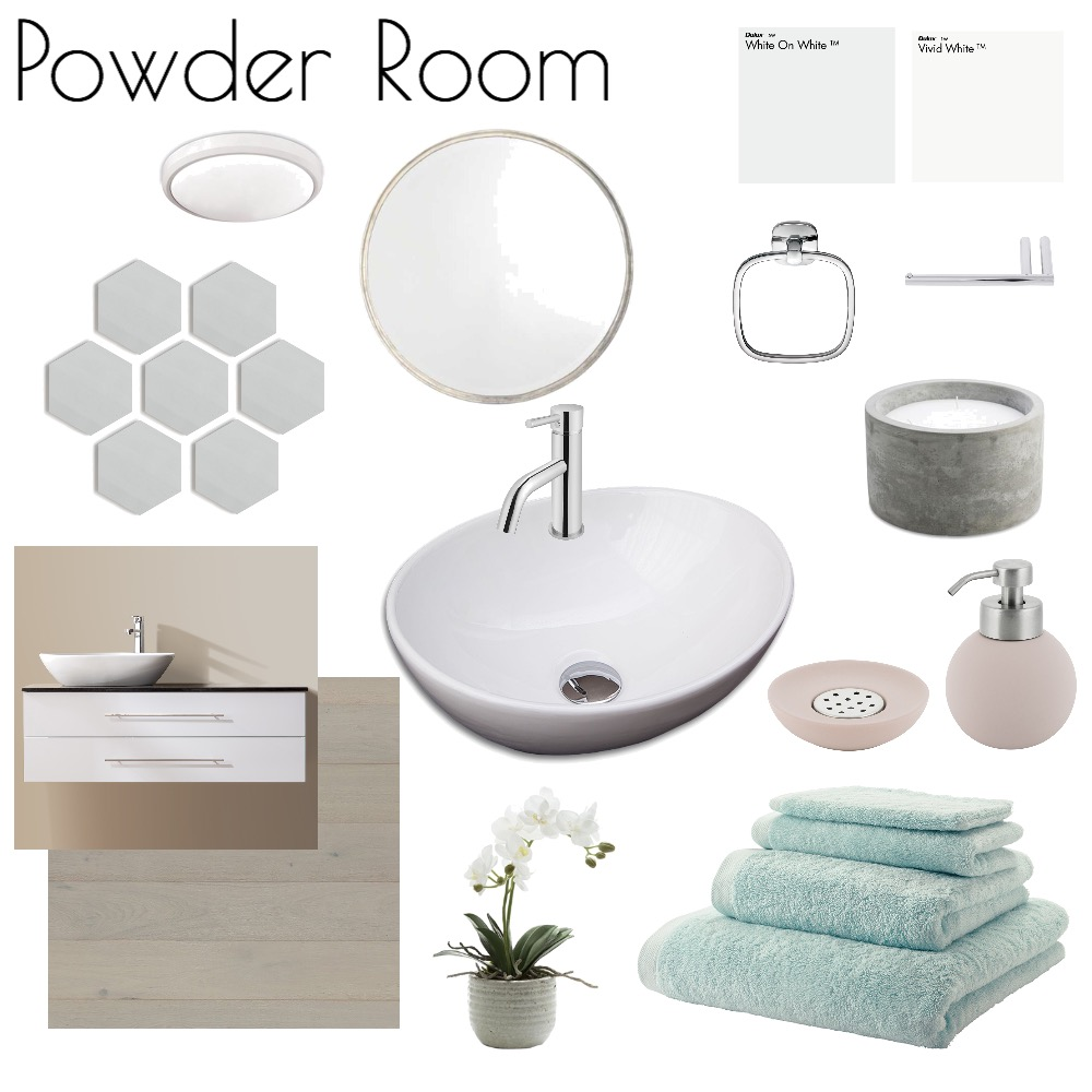 Powder Room Mood Board by nicolebackman on Style Sourcebook