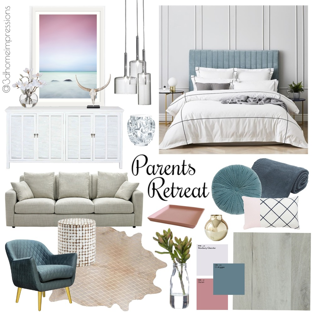 Parents Retreat Mood Board by 3D Home Impressions on Style Sourcebook