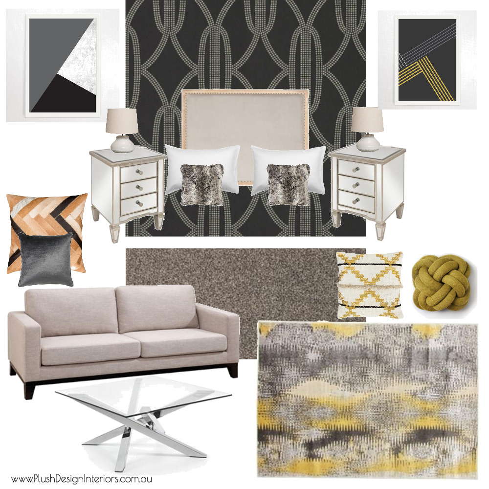 Serina - Master Suite #1 Interior Design Mood Board by Plush Design Interiors on Style Sourcebook