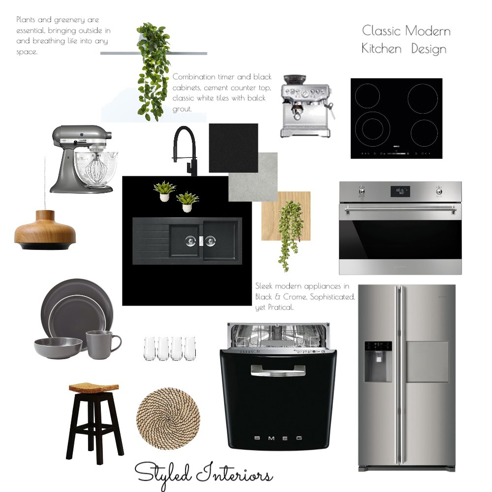 Classic Modern Kitchen Design Interior Design Mood Board by StyledInteriors on Style Sourcebook