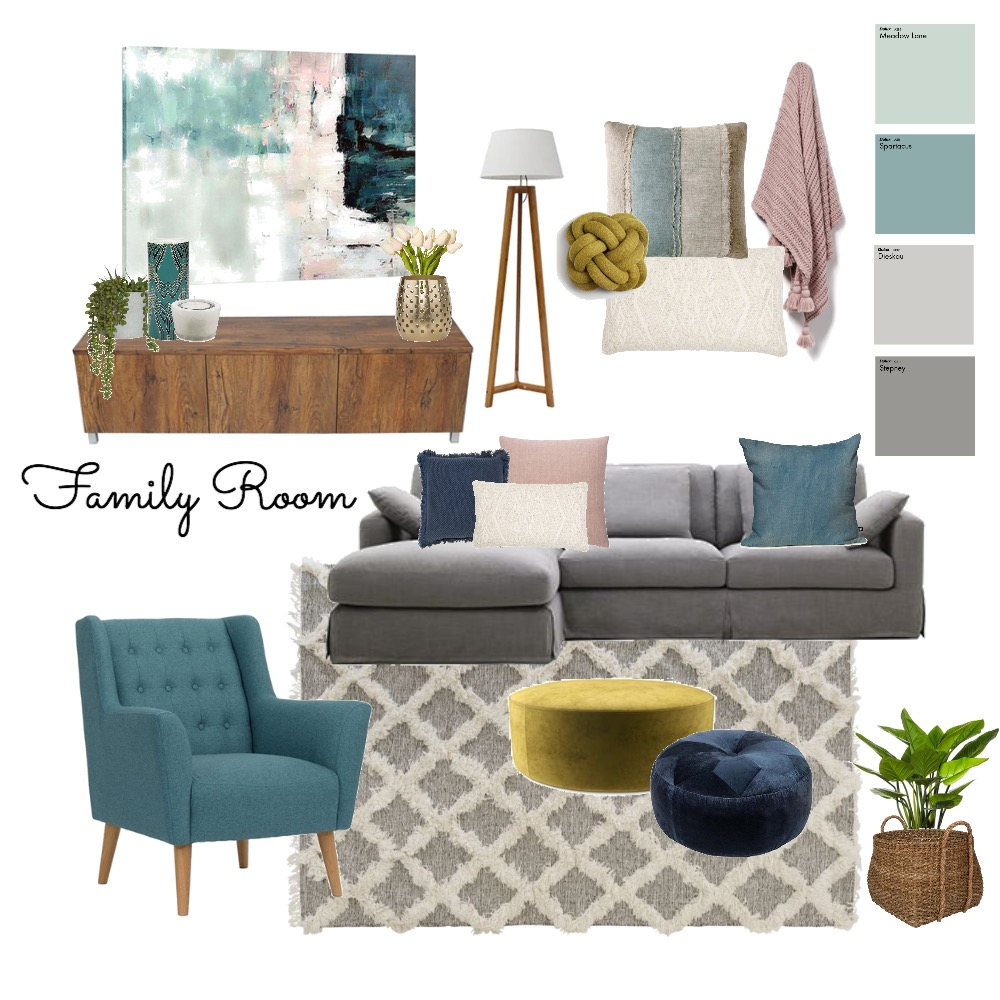Family Room Mood Board by Styling by Jackie on Style Sourcebook