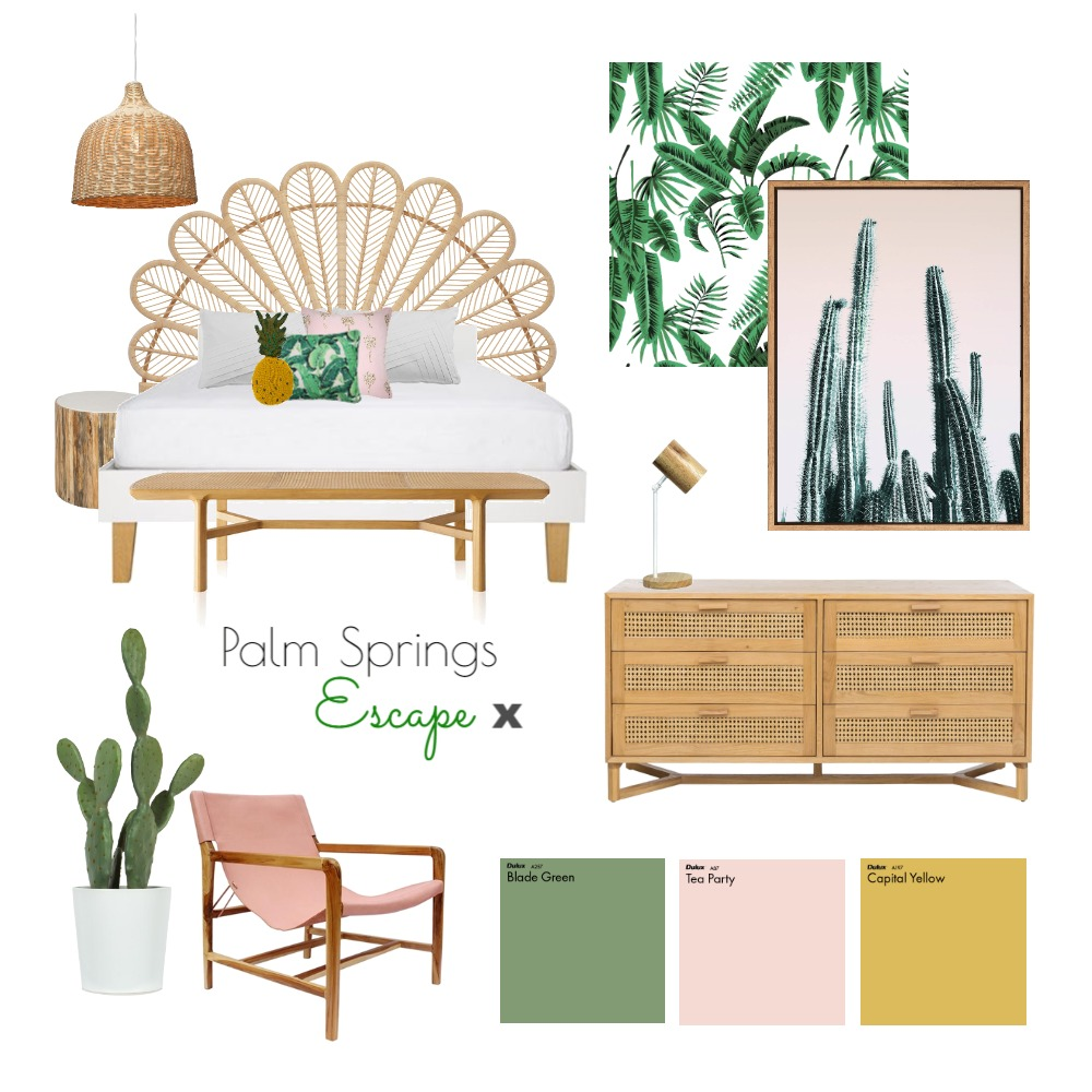 Palm Springs Bedroom Mood Board by interiorsbyayla on Style Sourcebook