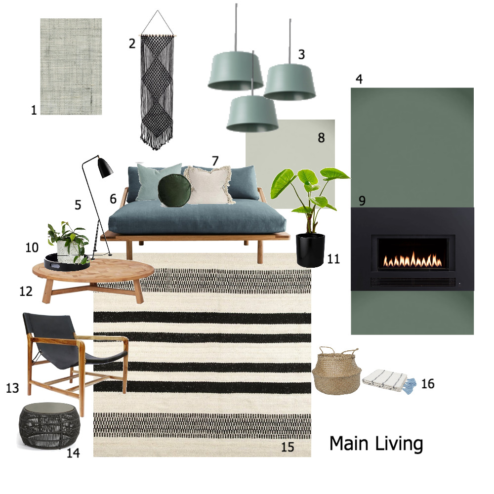 Living - Module 9 Mood Board by The Place Project on Style Sourcebook