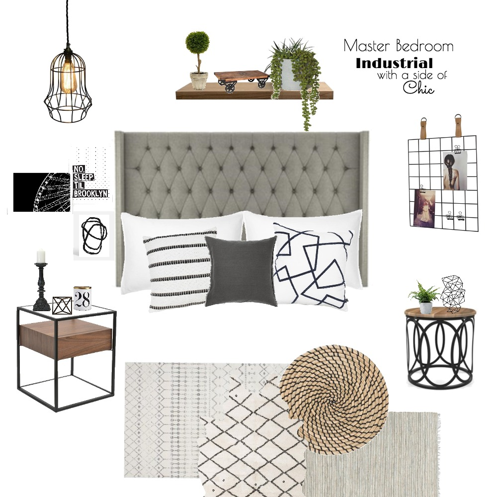 Industrial Chic Interior Design Mood Board by torilewi on Style Sourcebook