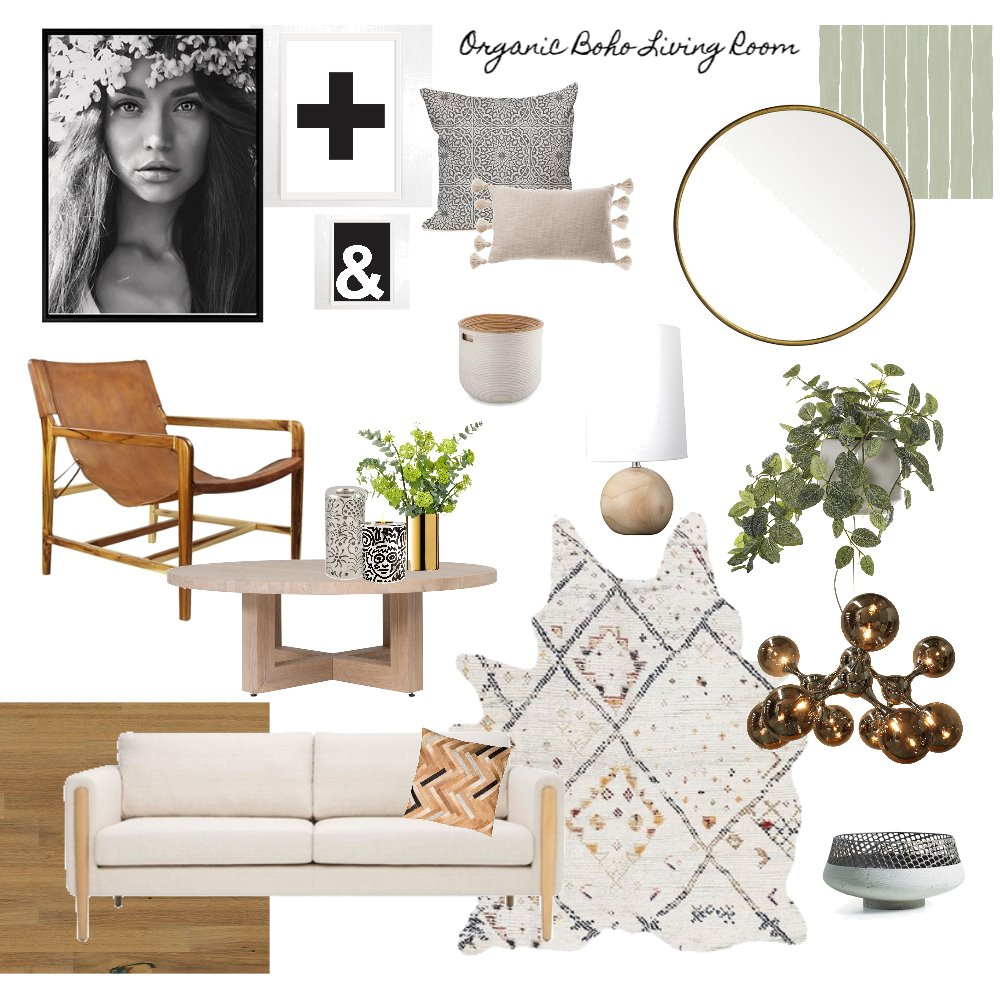 Organic Neutral Living Mood Board by AnnabelFoster on Style Sourcebook