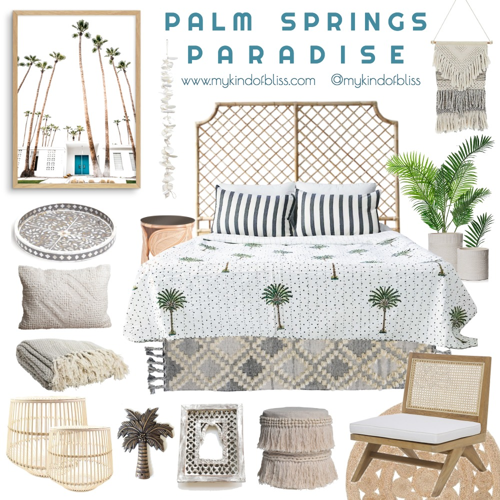 Palm Springs Paradise Mood Board by My Kind Of Bliss on Style Sourcebook
