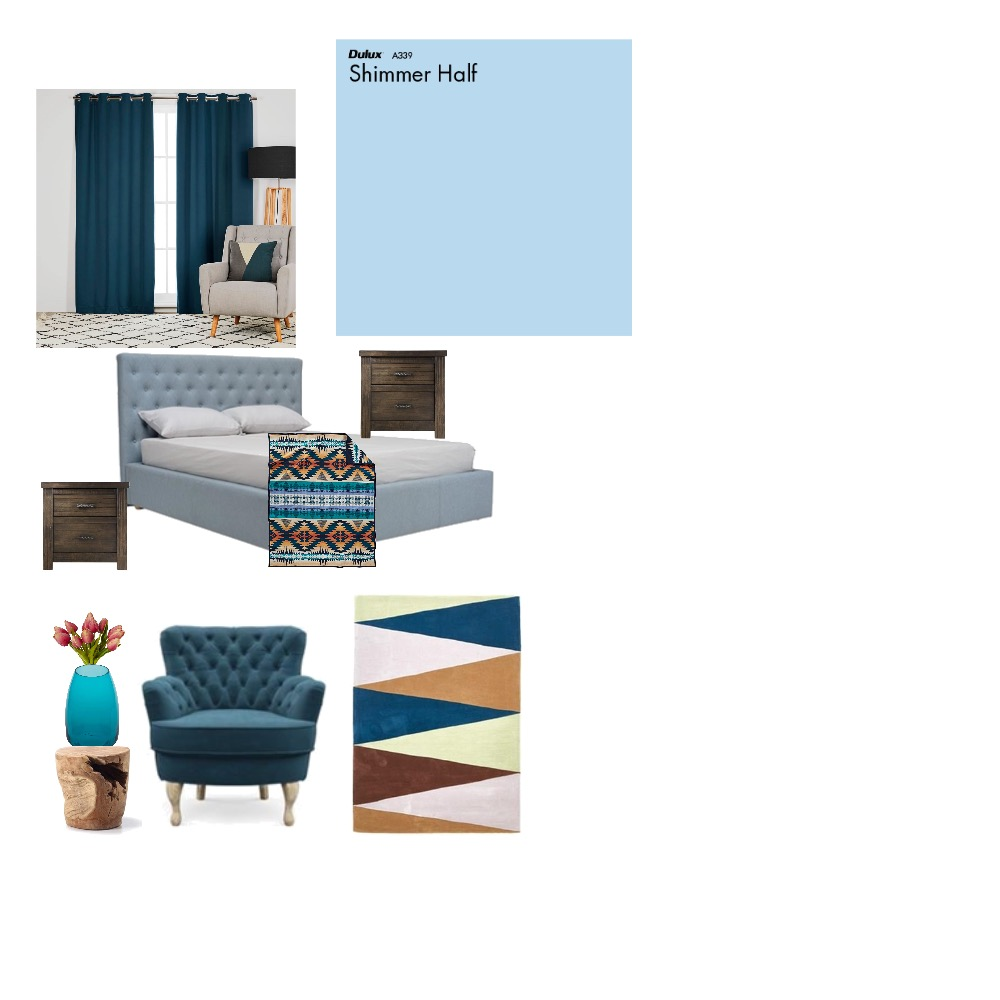 Blue inspiration Mood Board by rabieg on Style Sourcebook