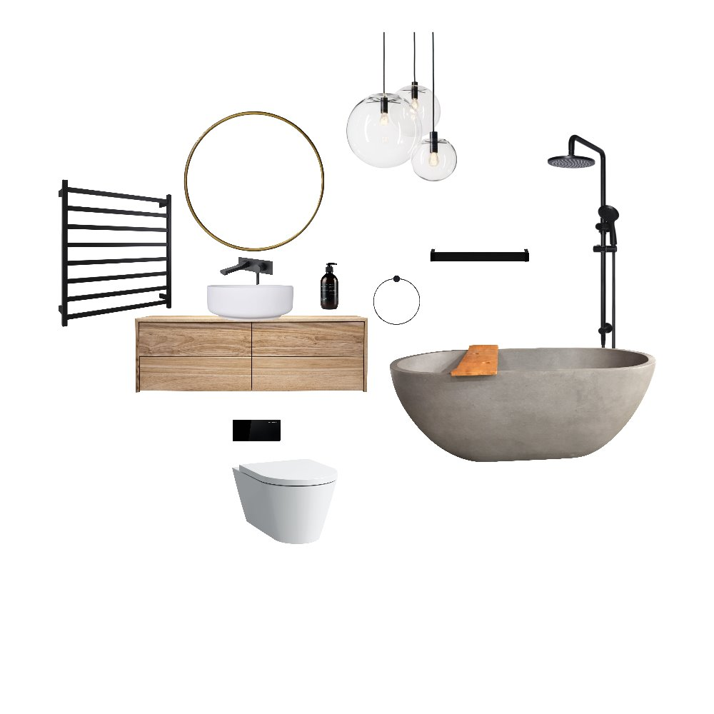 Bathroom Mood Board by Harluxe Interiors on Style Sourcebook