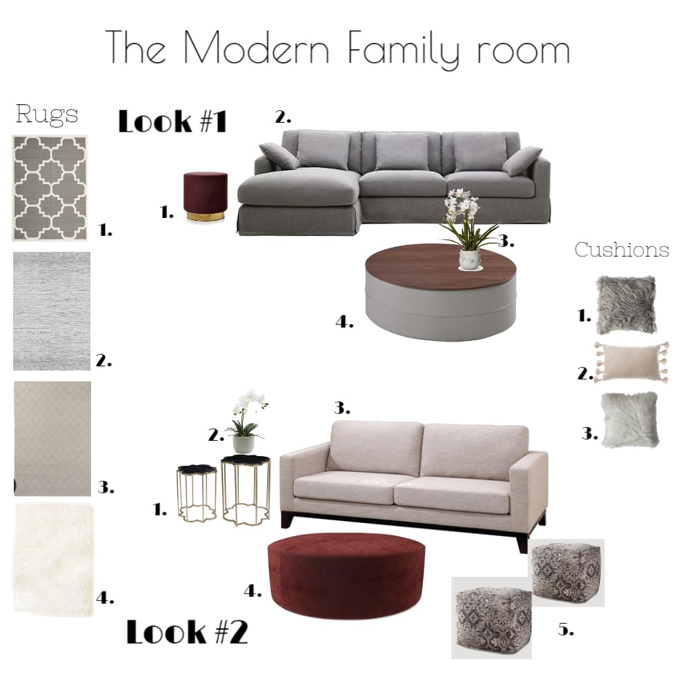 The Modern Family Interior Design Mood Board by emmi_loulalay on Style Sourcebook