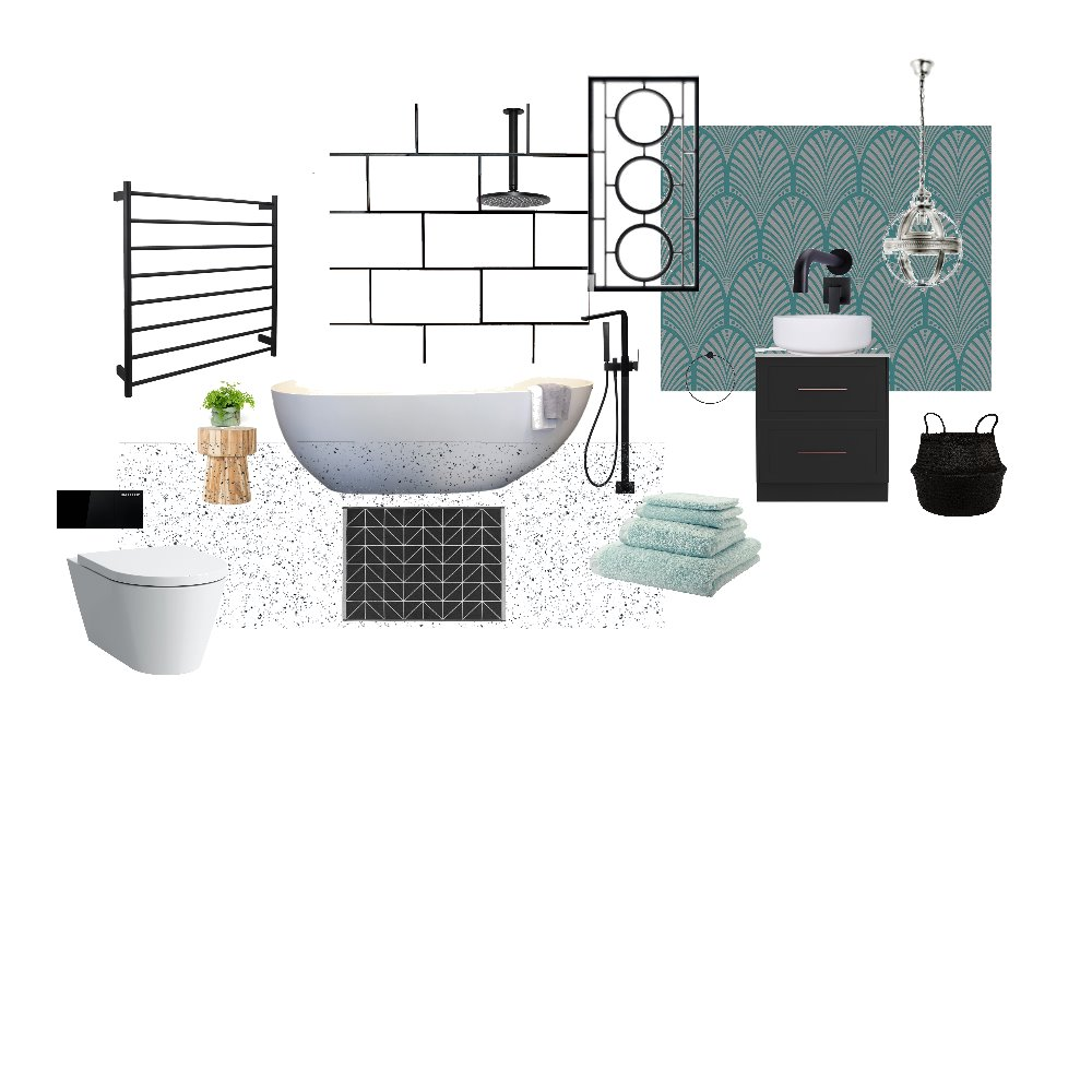 Bathroom Deco Interior Design Mood Board by harluxe on Style Sourcebook