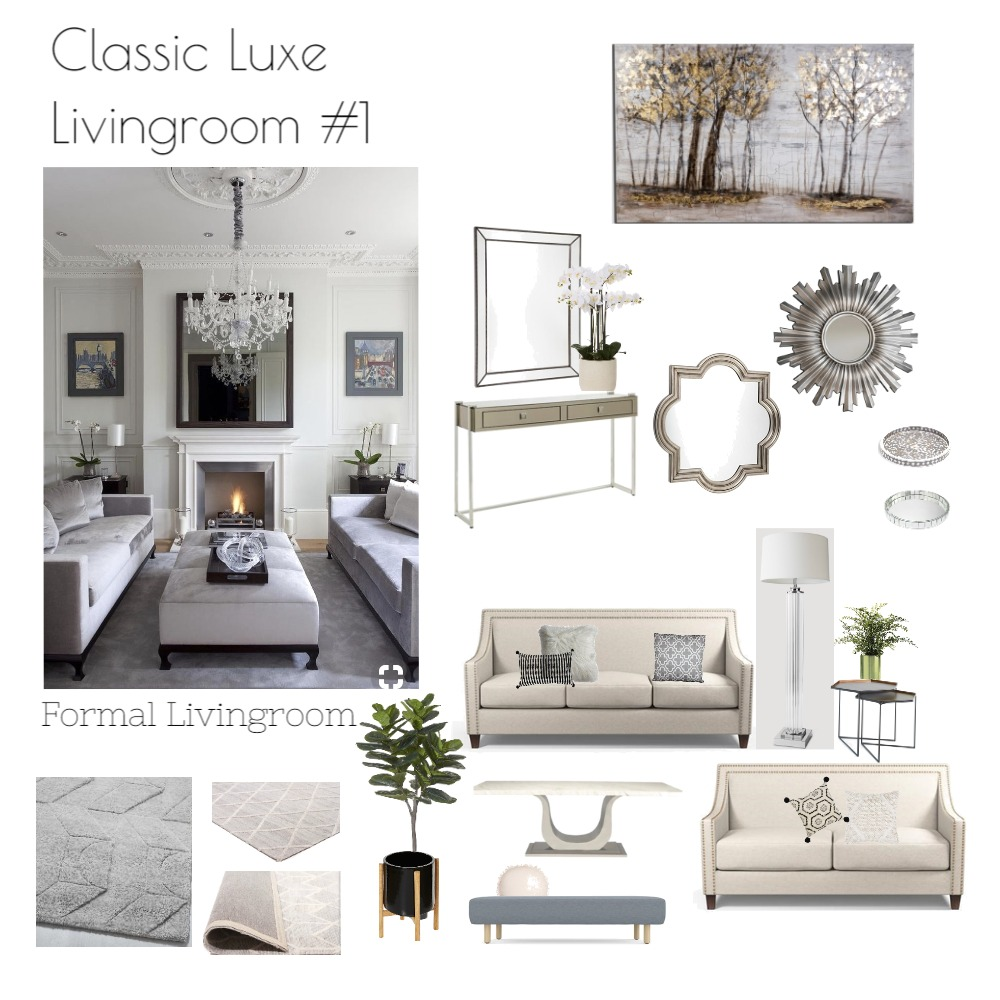 Classic Luxe living Mood Board by emmi_loulalay on Style Sourcebook