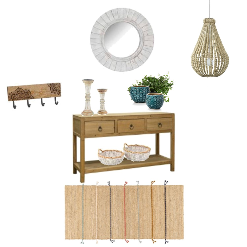 Hamptons Boho Entry Mood Board by GeorgeieG43 on Style Sourcebook