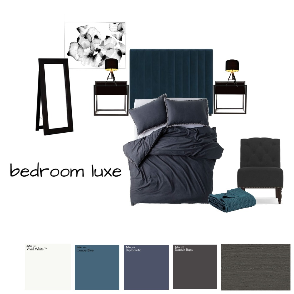 bedroom luxe Interior Design Mood Board by demistewart1 on Style Sourcebook