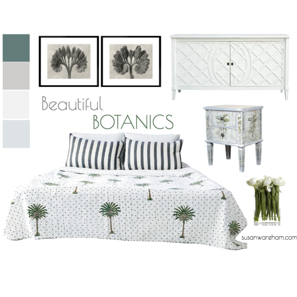 Beautiful botanics Mood Board by www.susanwareham.com on Style Sourcebook