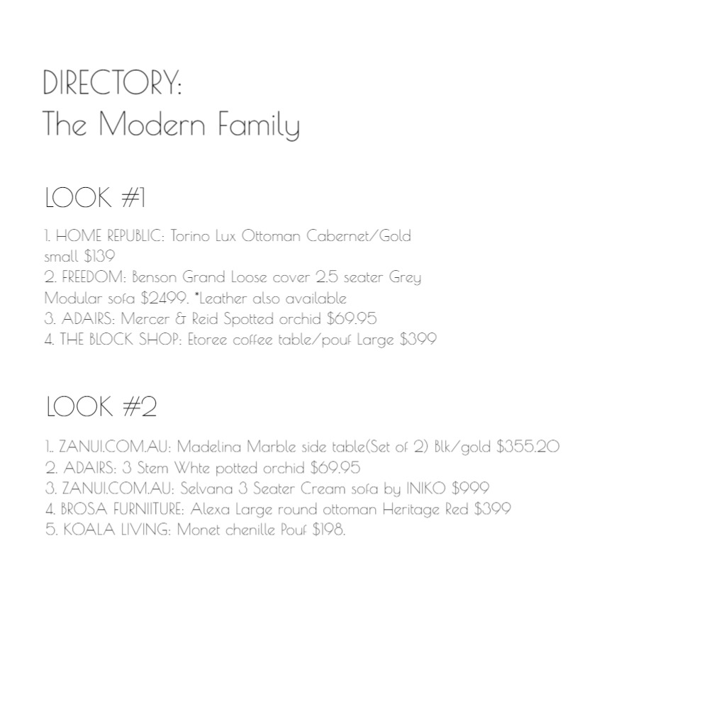 Directory: The Modern Family Mood Board by emmi_loulalay on Style Sourcebook