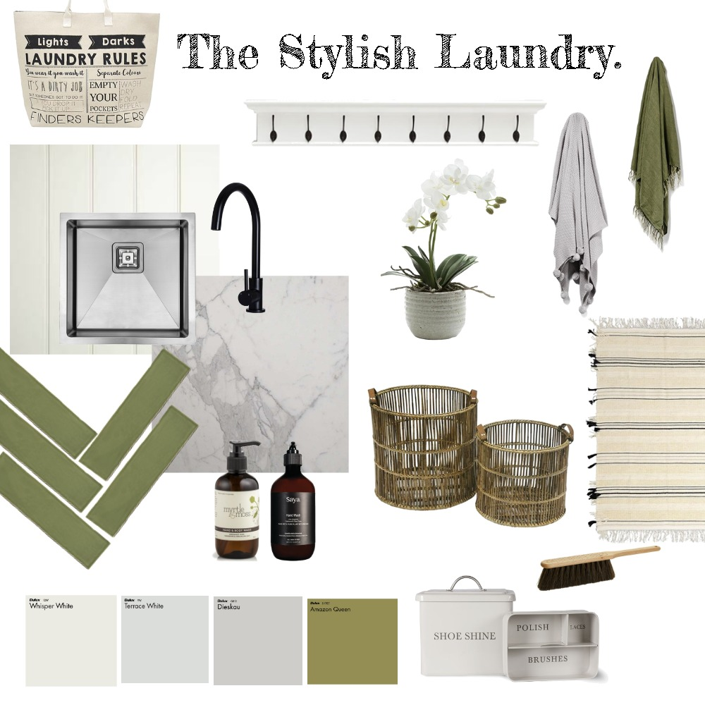 Laundry Interior Design Mood Board by thebohemianstylist on Style Sourcebook