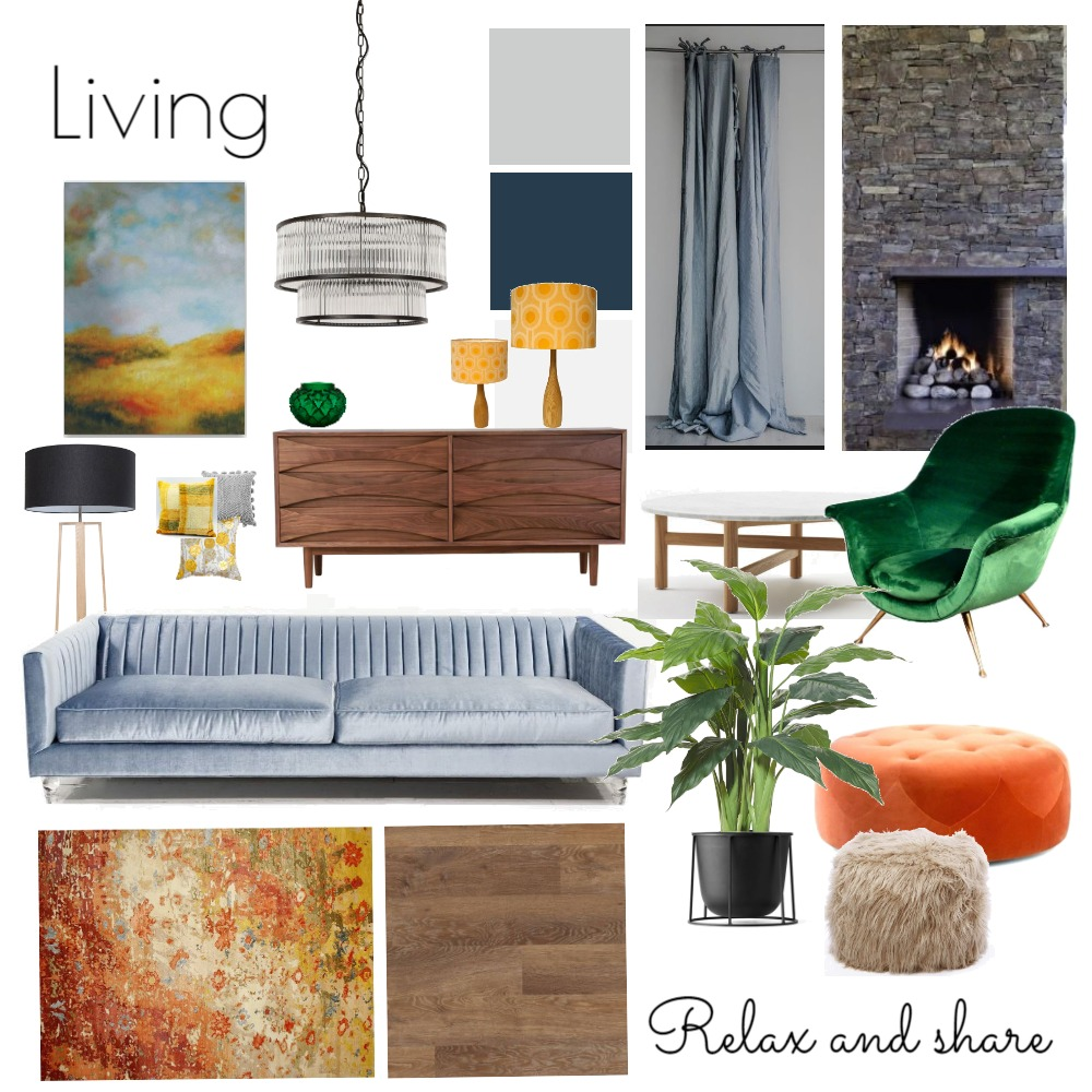 Living Room - Fifties House Mood Board by NicolaBriggs on Style Sourcebook