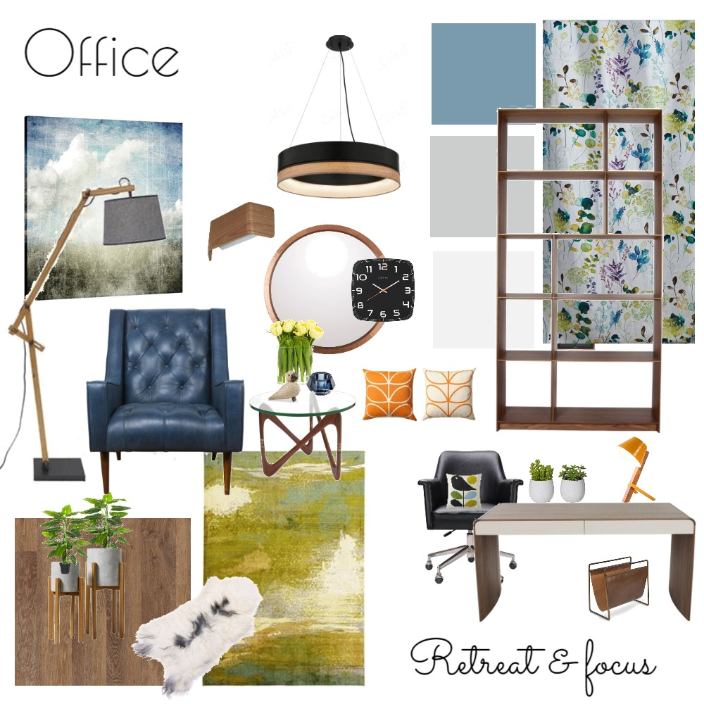 Office - Fifties House Interior Design Mood Board by NicolaBriggs on Style Sourcebook