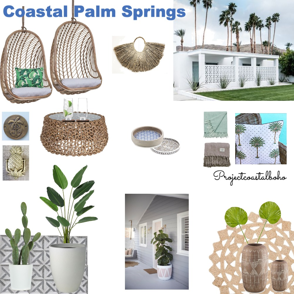 Coastal Palm Springs Mood Board by Project Coastal Boho on Style Sourcebook