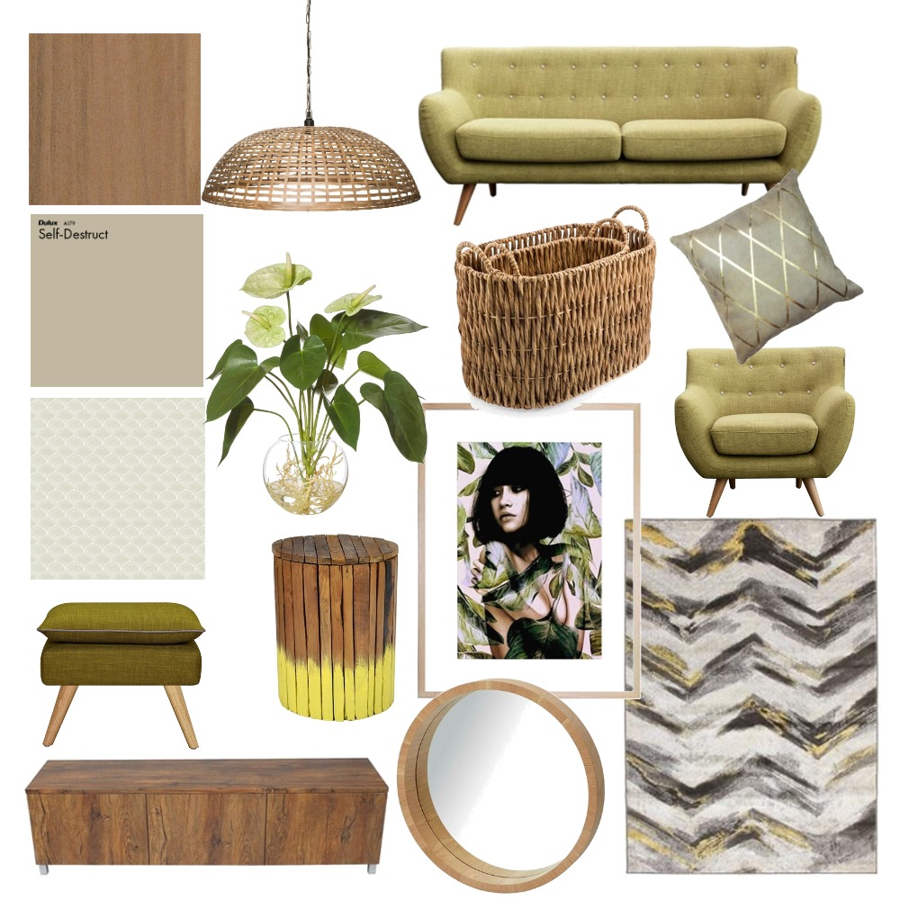 Earthy stylish living room Interior Design Mood Board by RobynCorr on Style Sourcebook