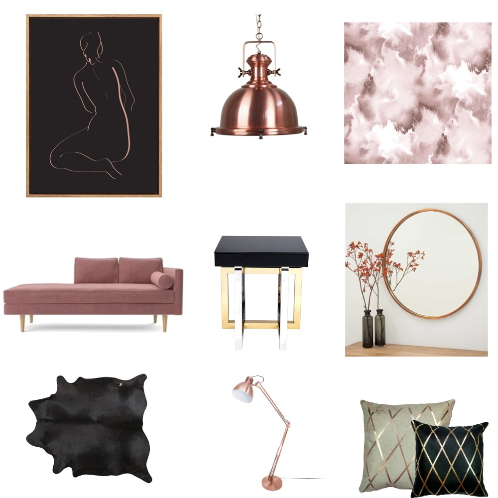 Copper Inspired Interior Design Mood Board by ptkoma on Style Sourcebook