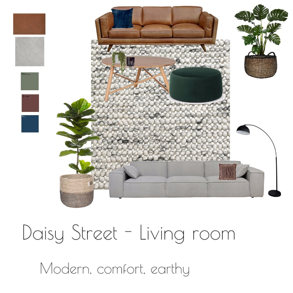 Draft Daisy Street Living room Interior Design Mood Board by TarshaO on Style Sourcebook