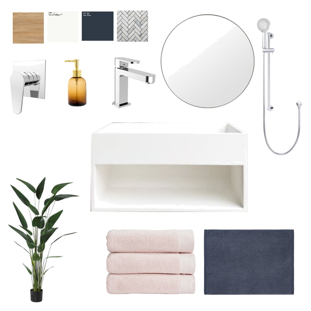 Ensuite Chrome Manutahi Mood Board by denanabonana on Style Sourcebook