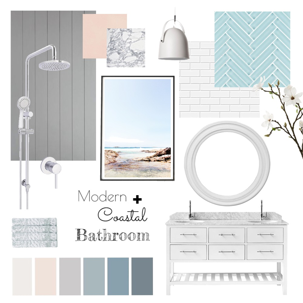 Coastal Bathroom Mood Board by interiorsbyayla on Style Sourcebook