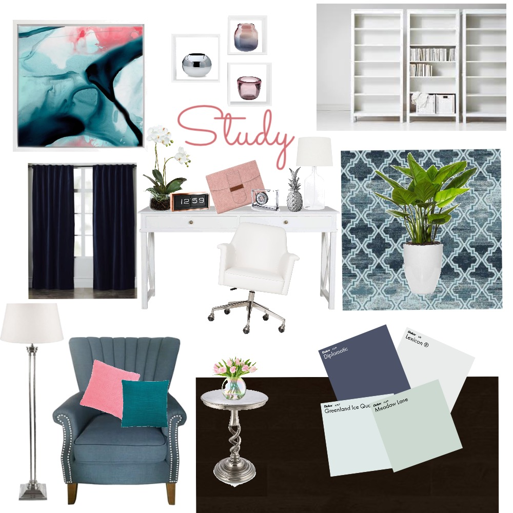 Office/Study Mood Board by yvettescott on Style Sourcebook