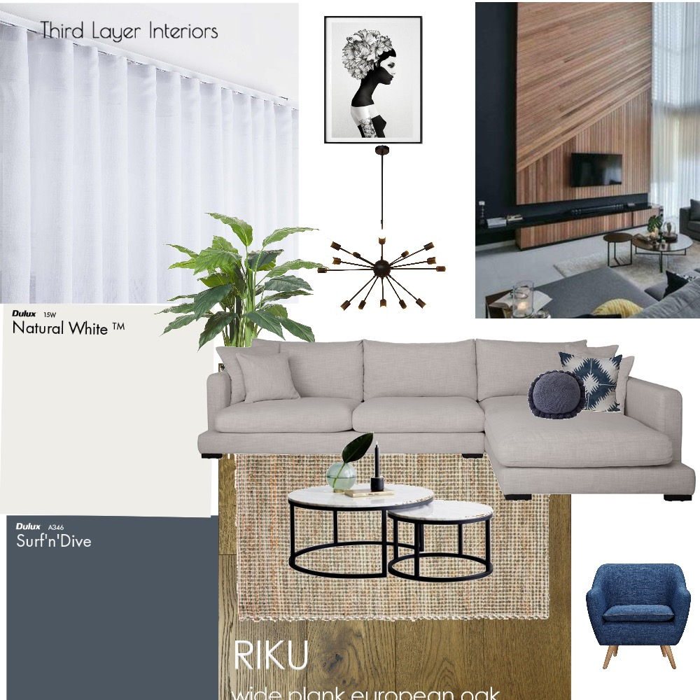 Modern  living room by Third Layer Interiors Mood Board by Third Layer Interiors  on Style Sourcebook