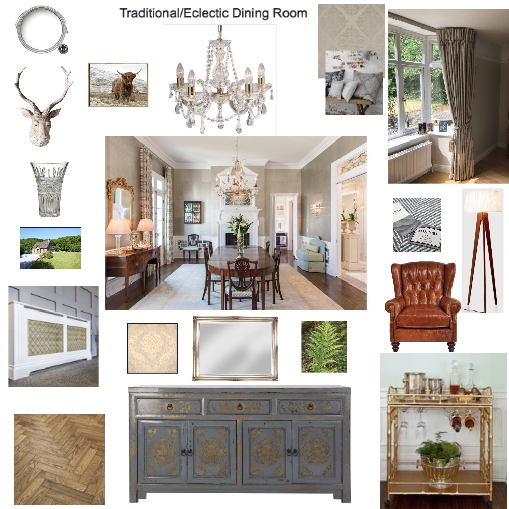 Traditional/Eclectic Interior Design Mood Board by LMH Interiors on Style Sourcebook