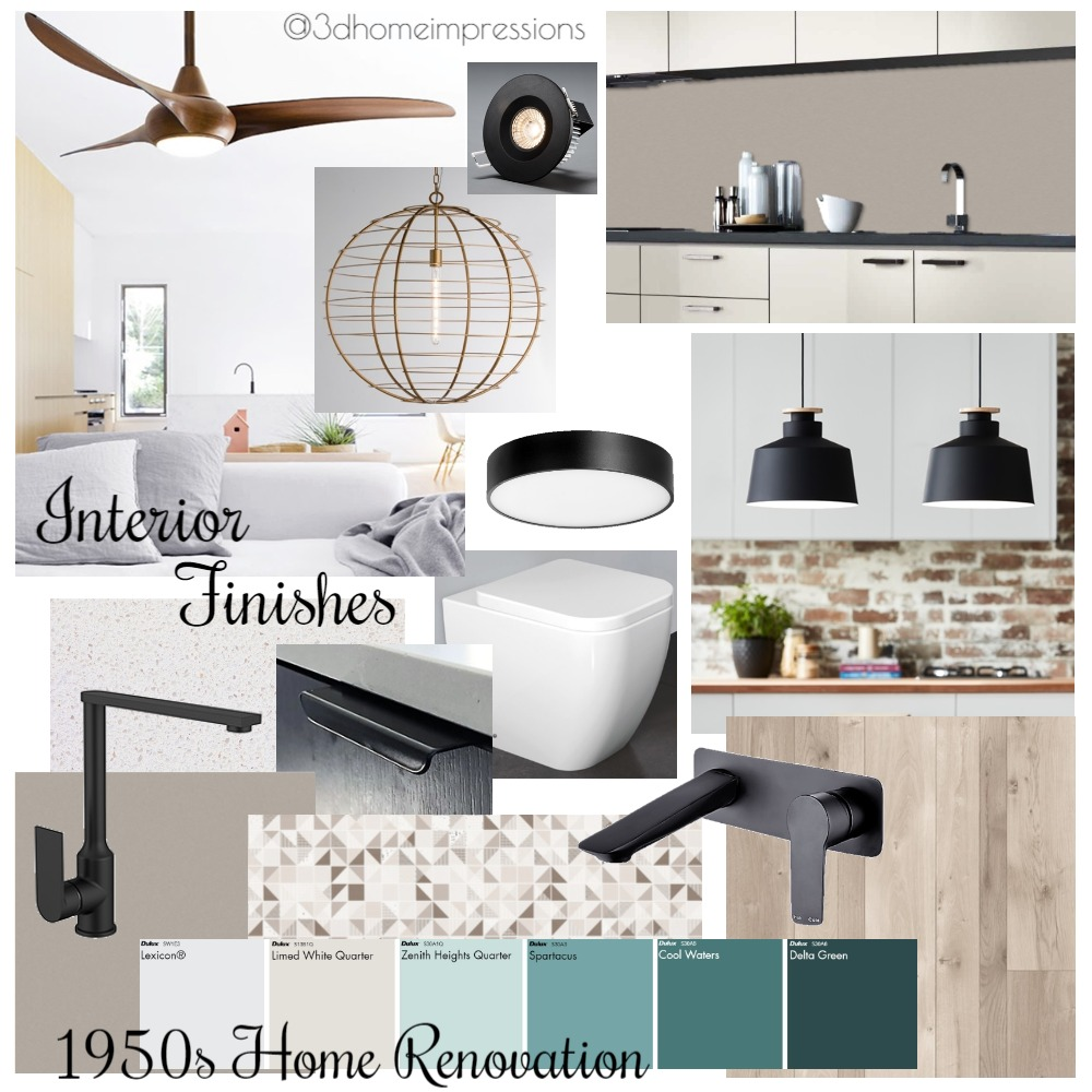 Interior Finishes Mood Board by 3D Home Impressions on Style Sourcebook