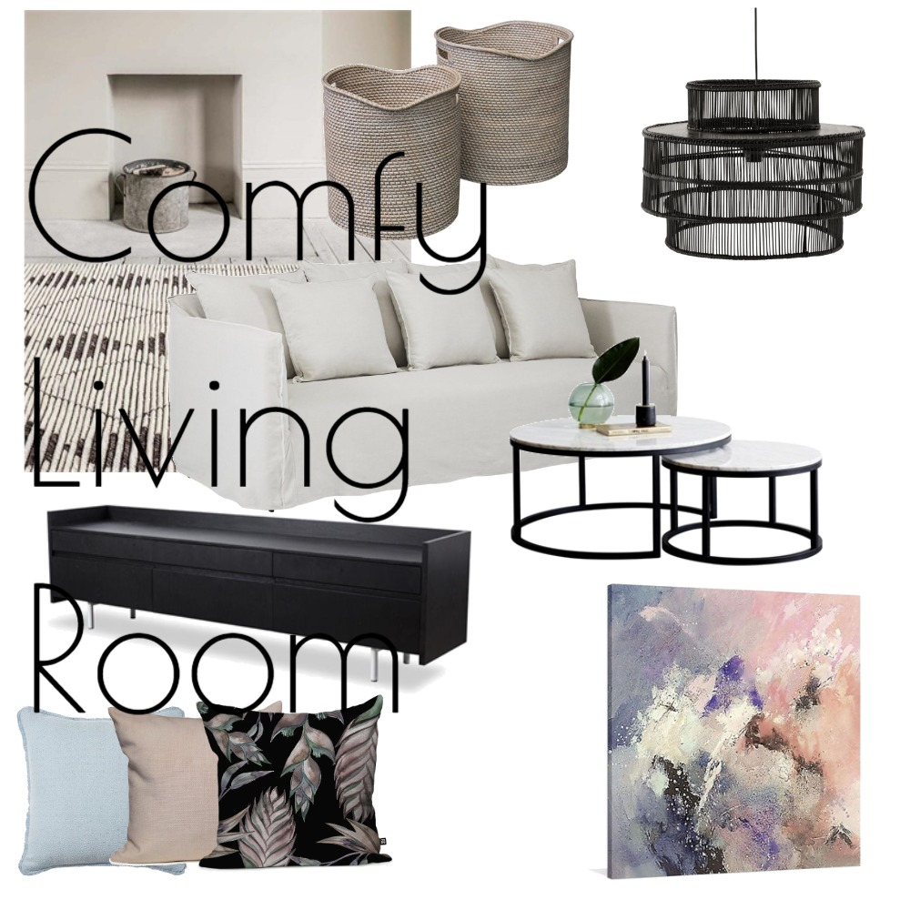 Contemporary Comfy Living Room Mood Board by Lupton Interior Design on Style Sourcebook