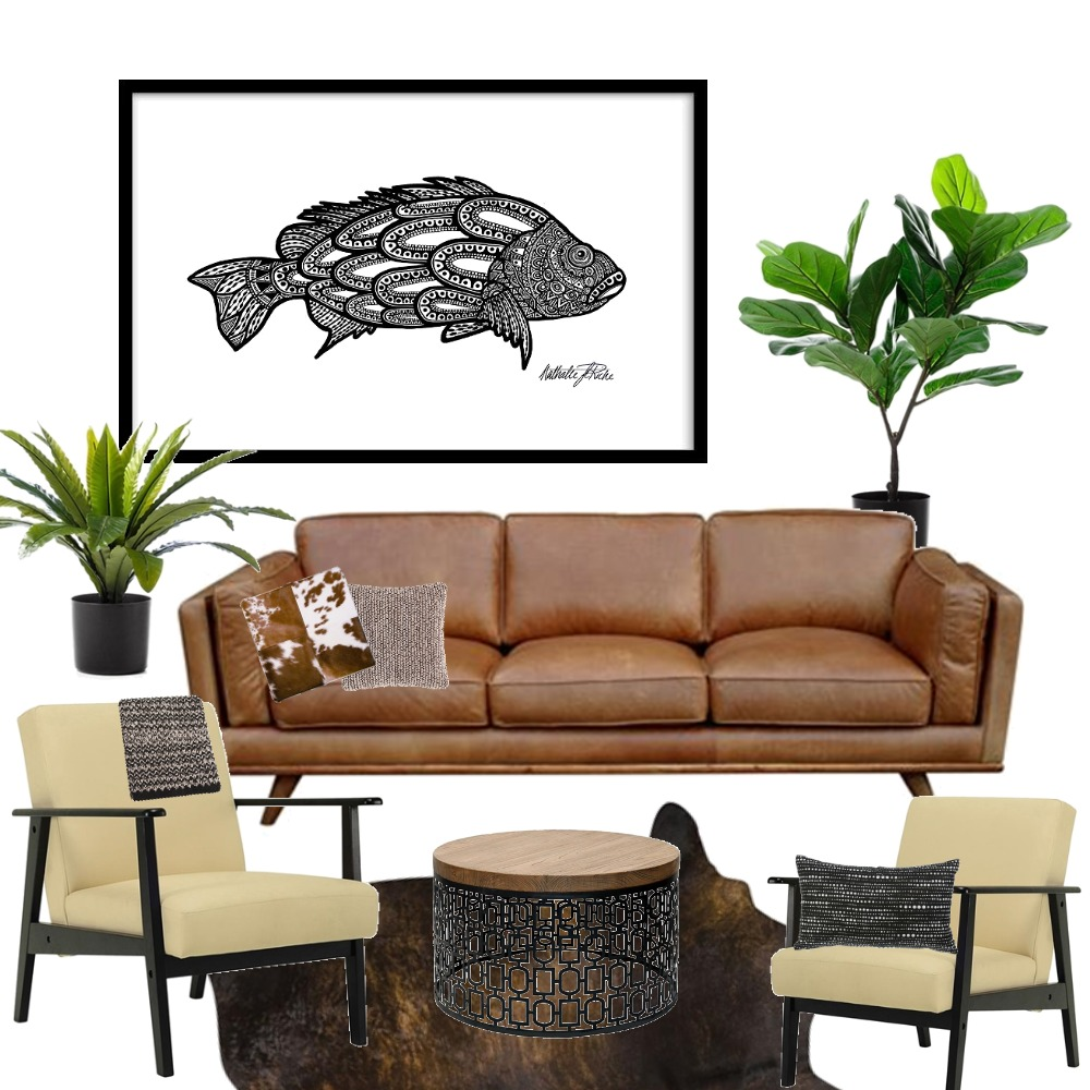 Black Bass Challenge by Artist Nathalie Le Riche Mood Board by NathalieLeRiche on Style Sourcebook
