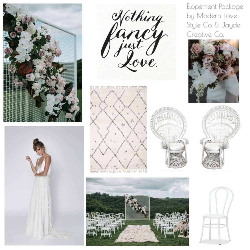 Elopement Package Mood Board by modernlovestyleco on Style Sourcebook