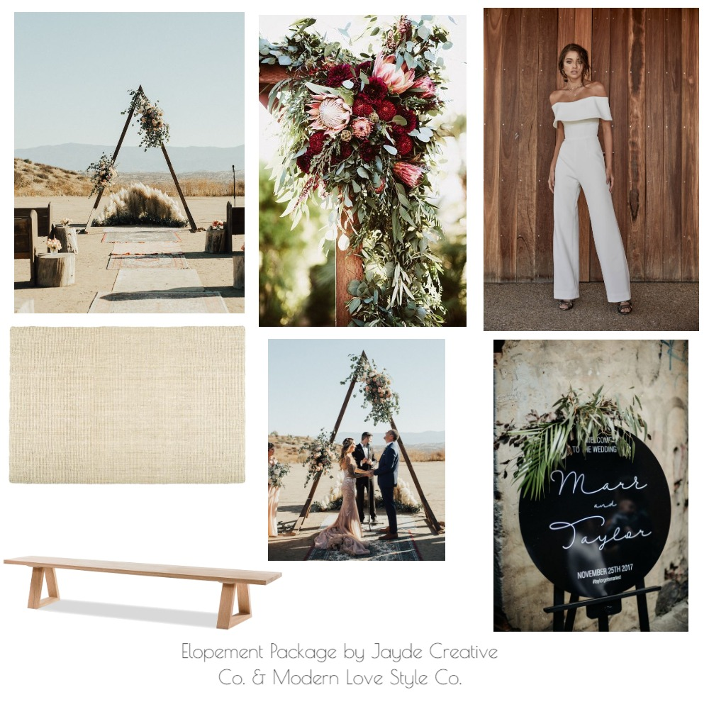 Elopement Package 1 Mood Board by modernlovestyleco on Style Sourcebook