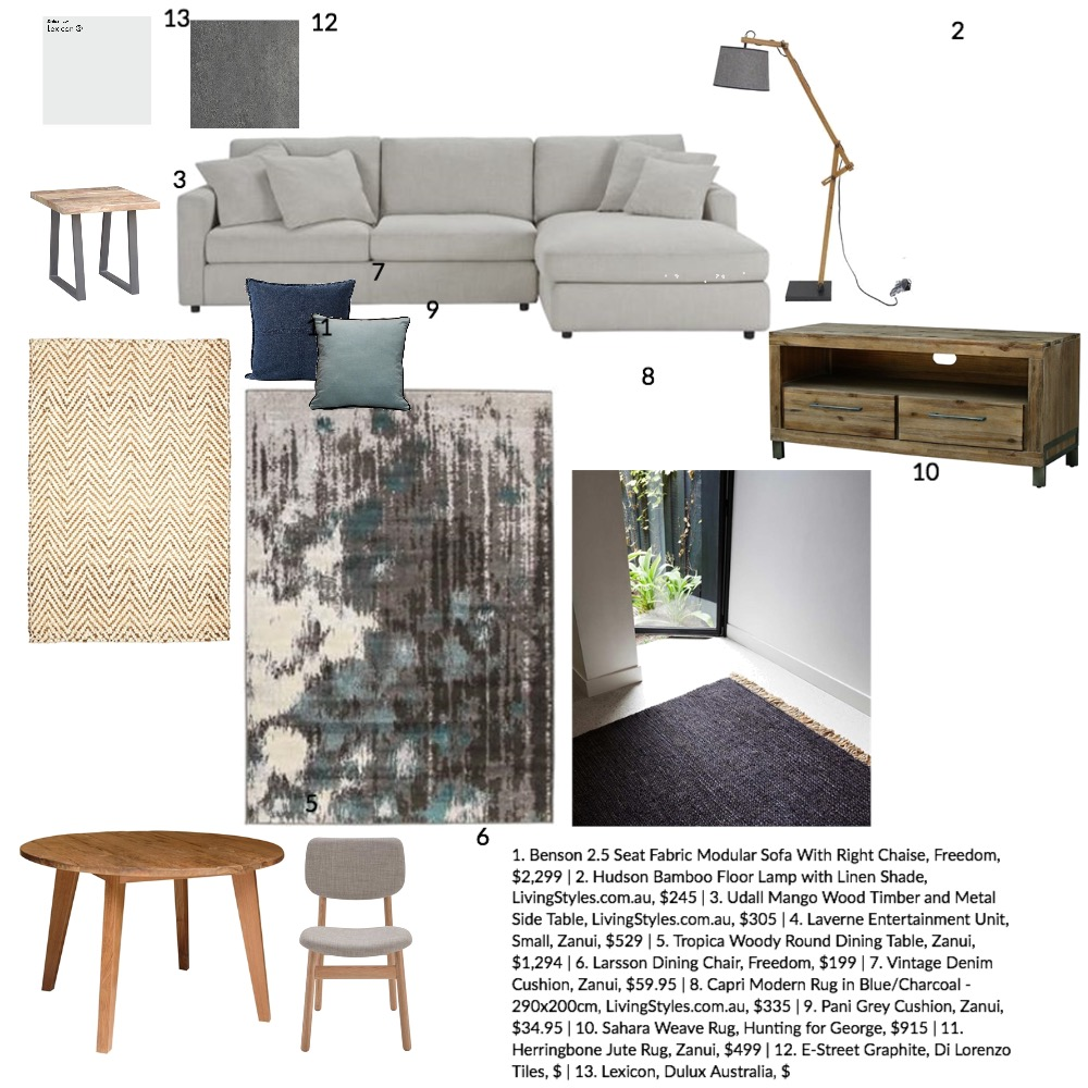Industrial living Interior Design Mood Board by Melissa Welsh on Style Sourcebook