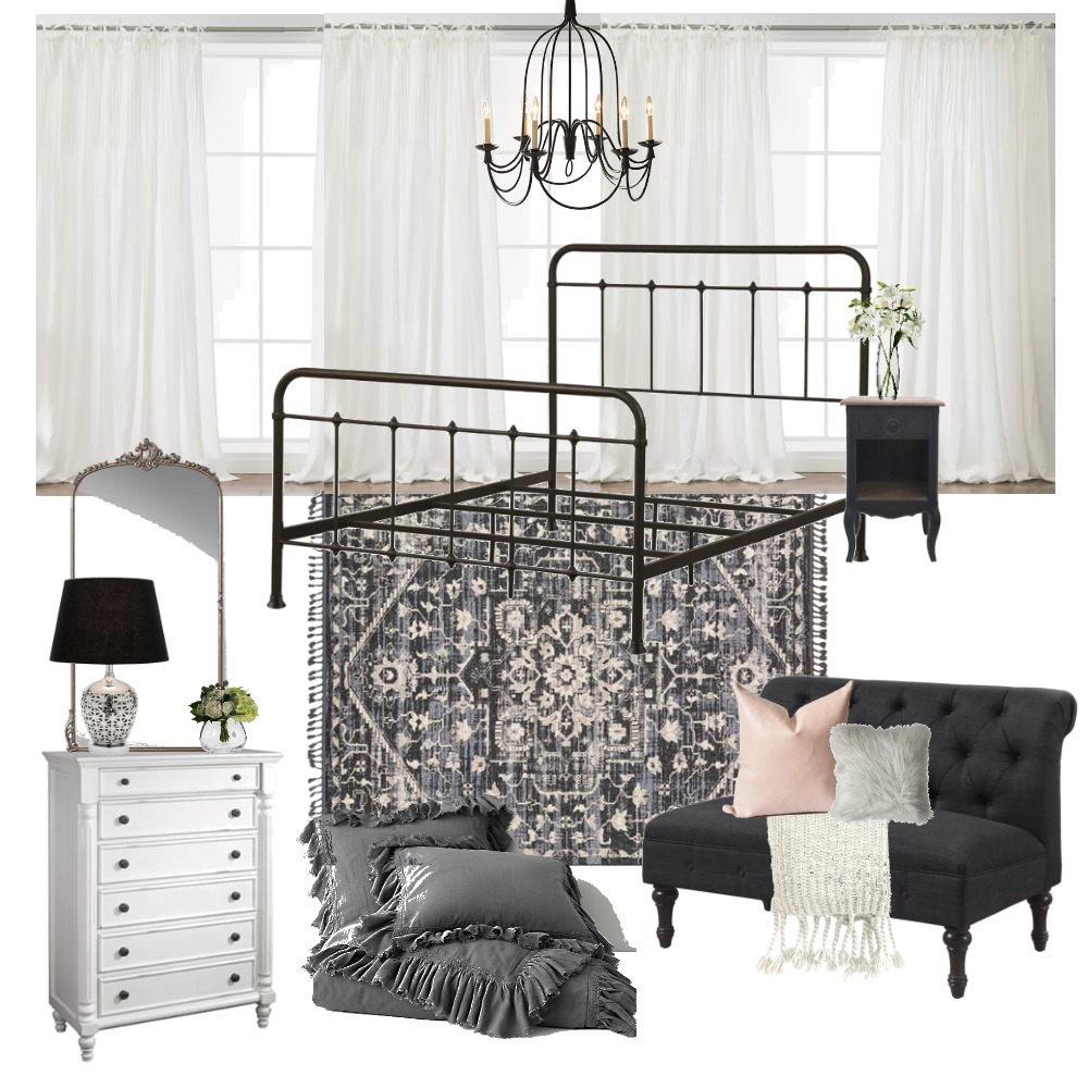 Black and White Bedroom Mood Board by home.oasis.home on Style Sourcebook