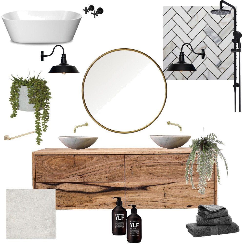 Ensuite Mood Board by Dyemond on Style Sourcebook