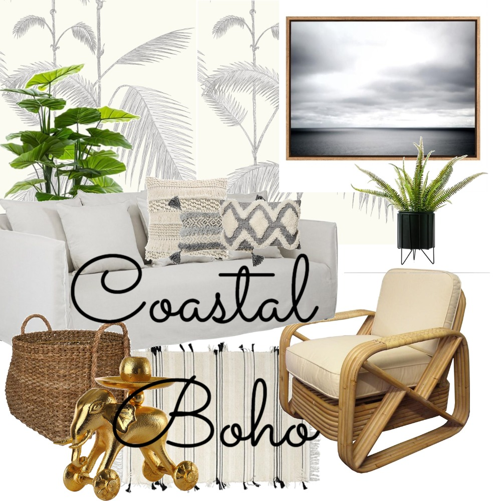 Coastal Boho Living Room Mood Board by Lupton Interior Design on Style Sourcebook
