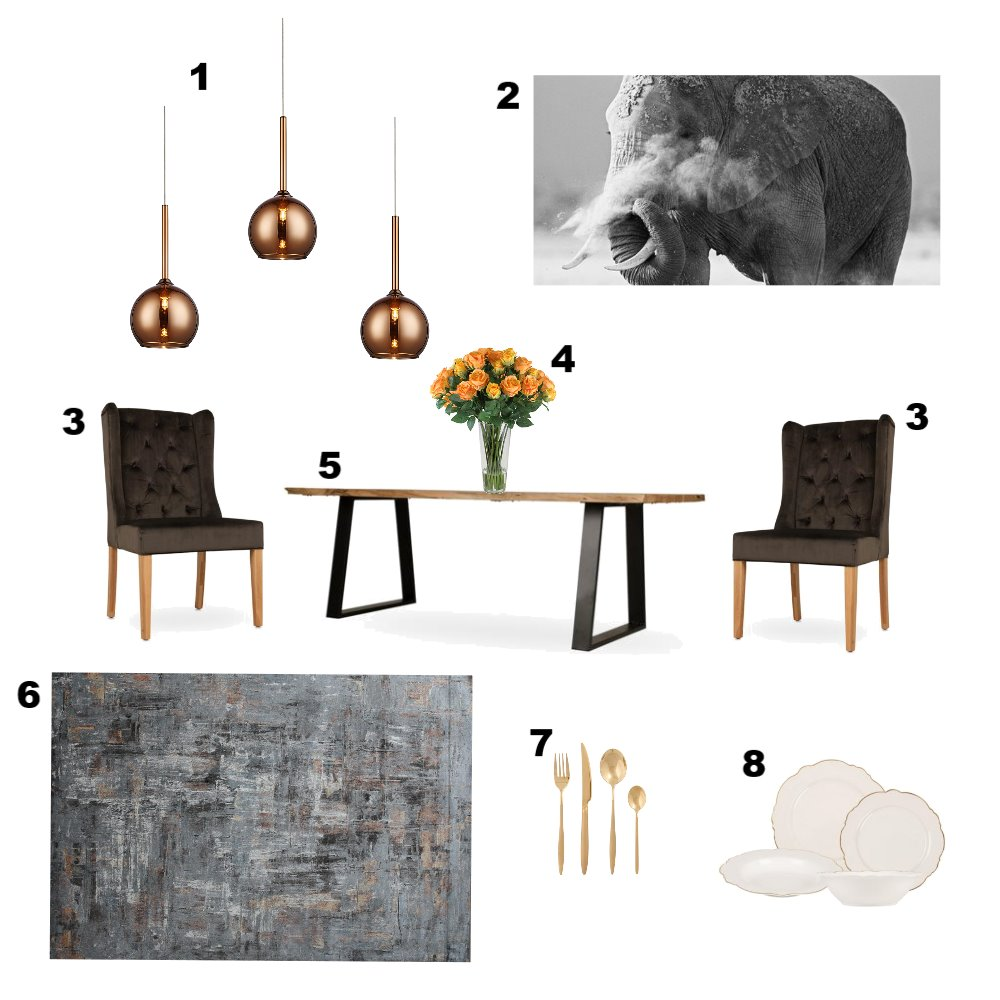 Dining Room 3 Mood Board by Zamazulu on Style Sourcebook