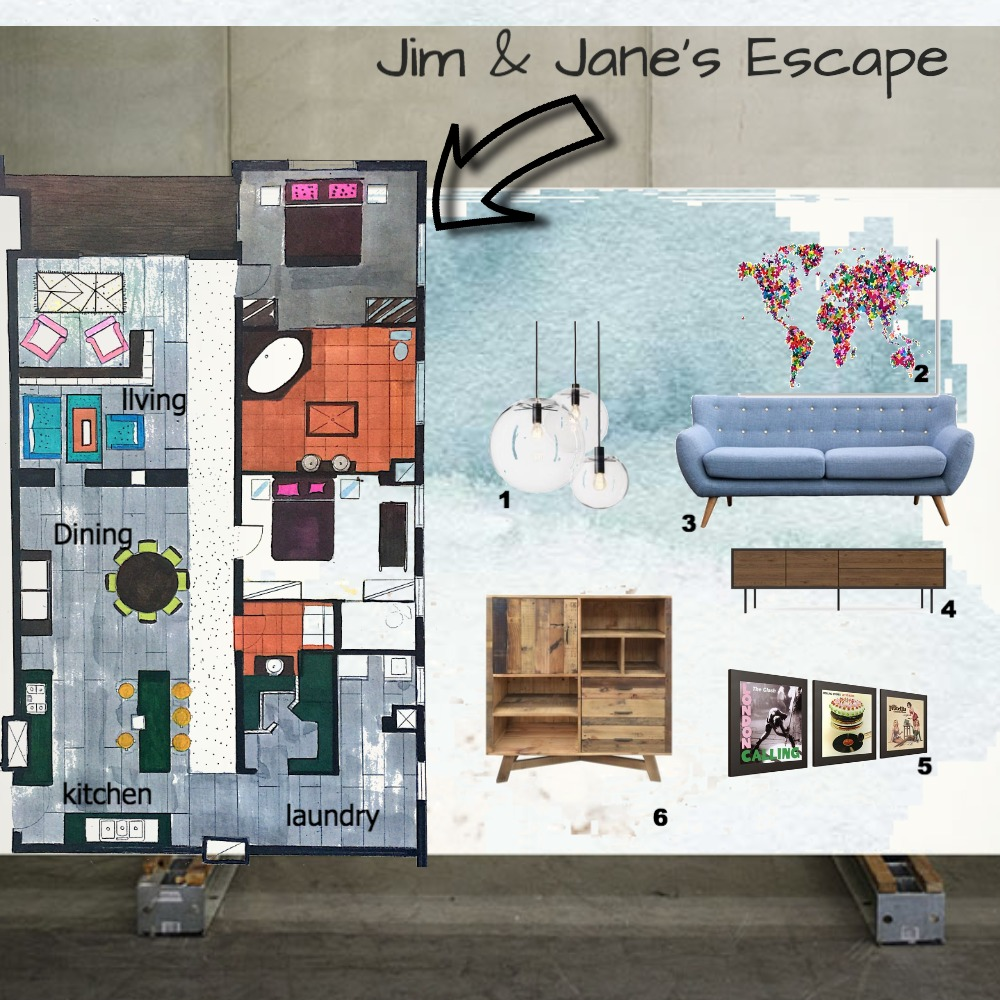 Jim and Janes Interior Design Mood Board by Natasha Mulenga on Style Sourcebook