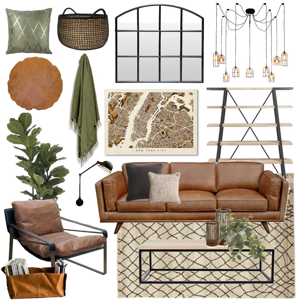 Industrial Mood Board by Thediydecorator on Style Sourcebook