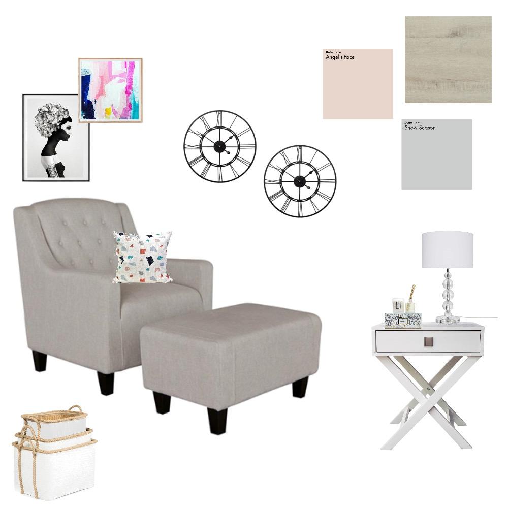 Sitting Area - Blush/Grey Mood Board by Myla Brandt on Style Sourcebook