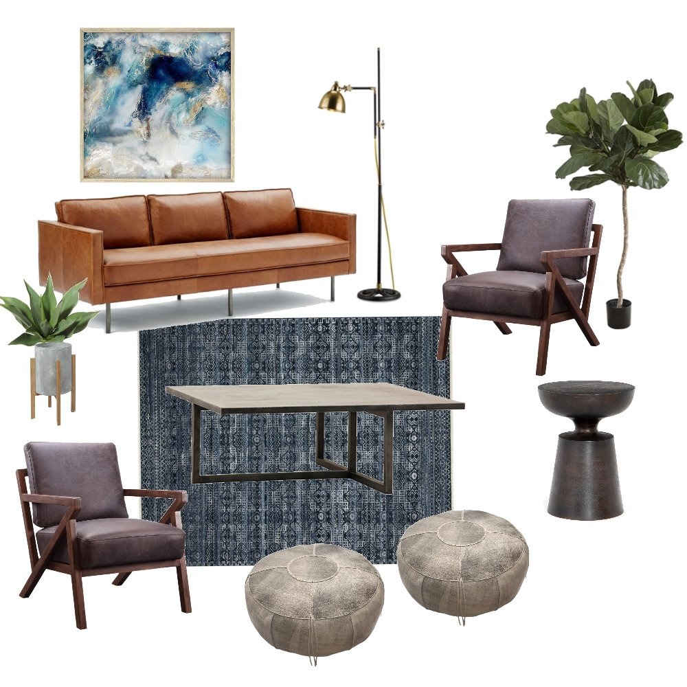Rustic Industrial Living Mood Board by kcillit on Style Sourcebook