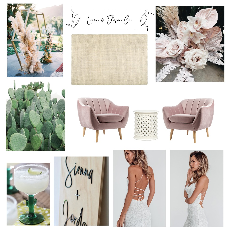 Cactus Elopement Package Mood Board by modernlovestyleco on Style Sourcebook