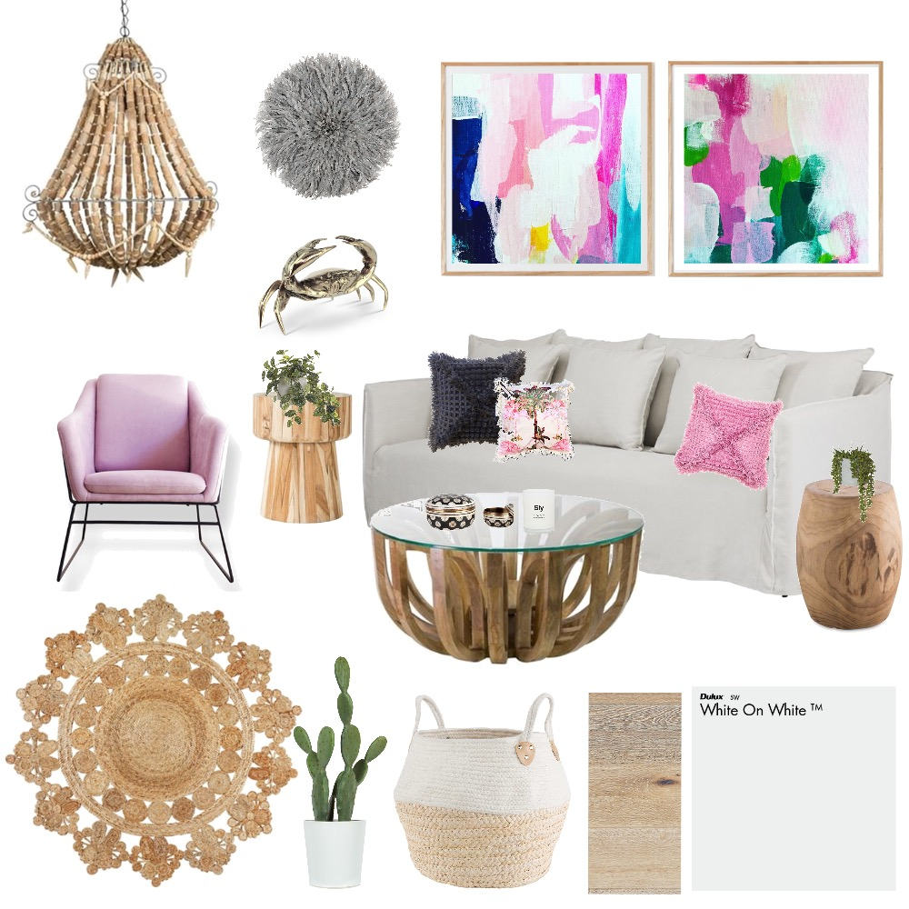 Fuscia Feeling Interior Design Mood Board by AlexClaremont on Style Sourcebook