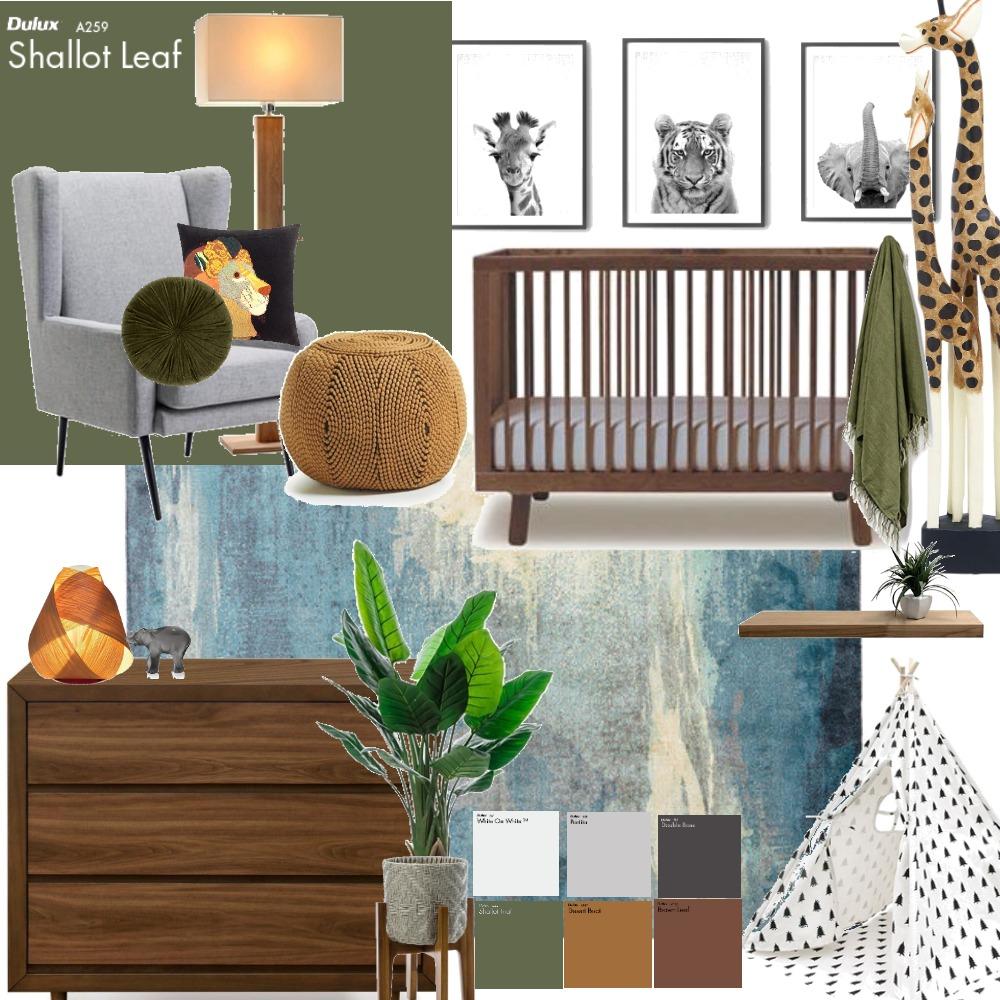 Baby Boy African Safari Interior Design Mood Board by taylorb on Style Sourcebook