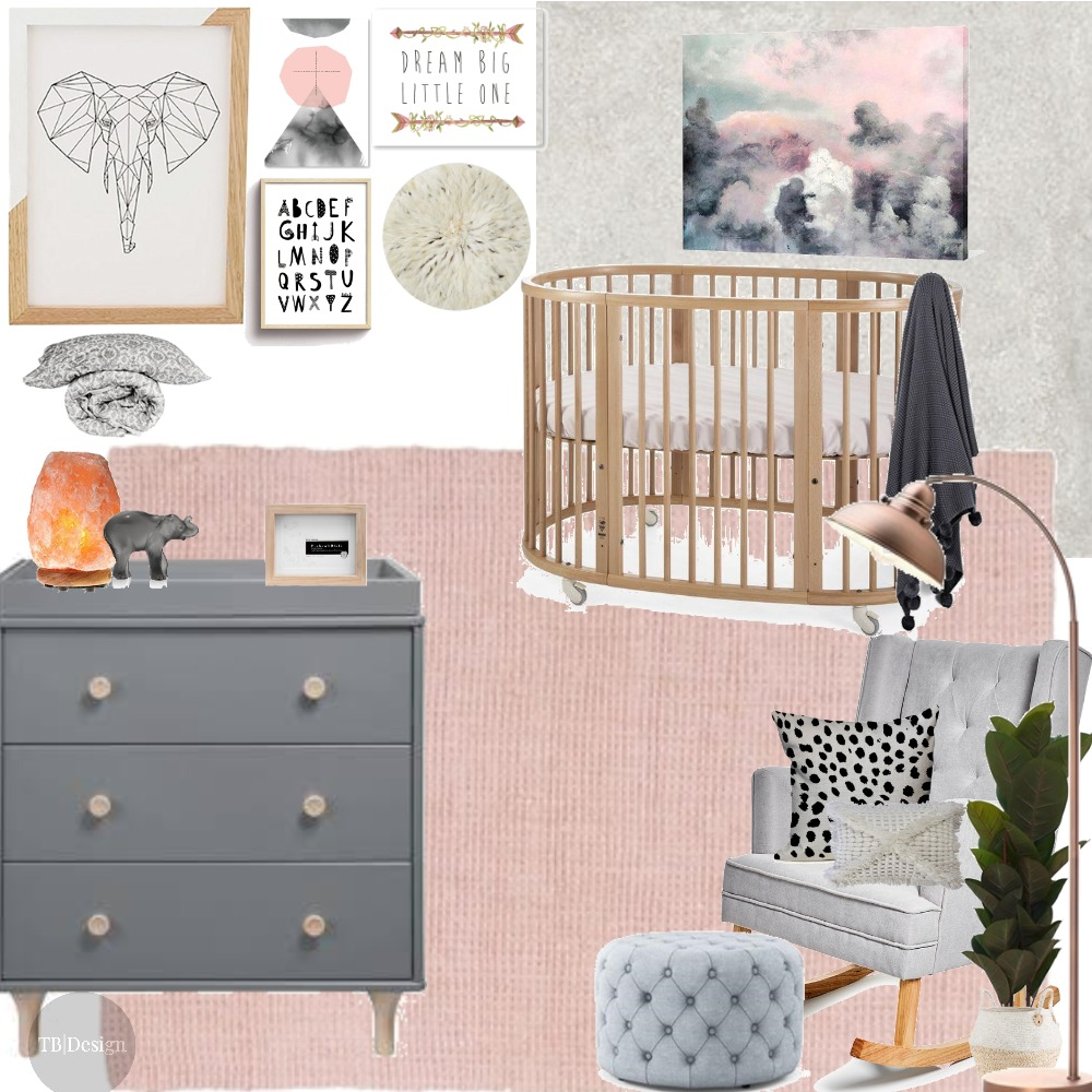 Baby Girl Nursery Mood Board by taylorb on Style Sourcebook