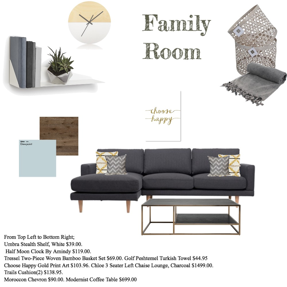 Cozy Family Room Mood Board by Myla Brandt on Style Sourcebook